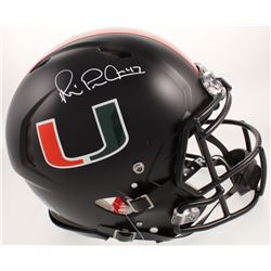 Michael Irvin Signed Miami Hurricanes Full-Size Authentic On-Field Speed Helmet (Beckett COA)