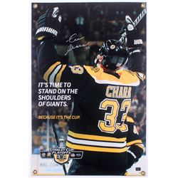 Zdeno Chara Signed Boston Bruins Stanley Cup 20x30 Display Sign (Chara Hologram)