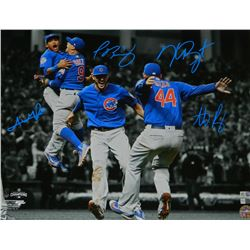 2016 Cubs World Series Champions 16x20 Photo Team-Signed by (4) with Anthony Rizzo, Kris Bryant, Add