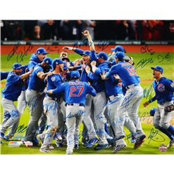 2016 Cubs World Series Champions 16x20 Photo Team-Signed by (26) with Kris Bryant, Anthony Rizzo, Be