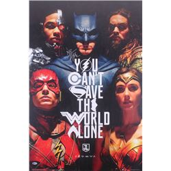 "Ben Affleck Signed ""Justice League"" 24x36 Poster (Beckett COA)"