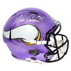 Kirk Cousins Signed Minnesota Vikings Full-Size Chrome Speed Helmet (Beckett COA)