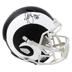 Marshall Faulk Signed St. Louis Rams Matte Black Full-Size Speed Helmet (Schwartz Sports COA)
