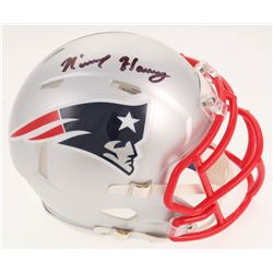 N'Keal Harry Signed New England Patriots Speed Mini Helmet (Beckett COA)