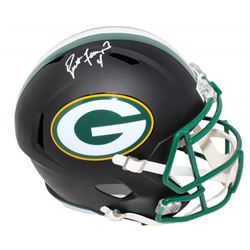 Brett Favre Signed Green Bay Packers Matte Black Full-Size Speed Helmet (Schwartz Sports COA  Favre