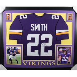 Harrison Smith Signed Minnesota Vikings 35x43 Custom Framed Jersey (Beckett COA)