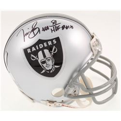 "Tim Brown Signed Oakland Raiders Mini-Helmet Inscribed ""HOF 2015"" (Radtke COA  Brown Hologram)"