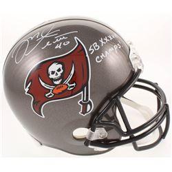 """Mike Alstott Signed Tampa Bay Buccaneers Full-Size Helmet Inscribed """"SB XXXVII CHAMPS!"""" (Radtke COA)"""