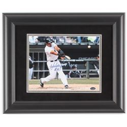 Jose Abreu Signed Chicago White Sox 14x17 Custom Framed Photo Display (Schwartz COA)