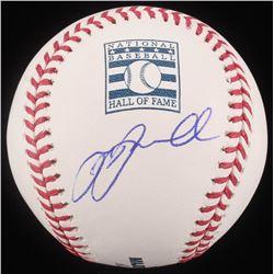 Jeff Bagwell Signed OML HOF Logo Baseball (JSA COA)