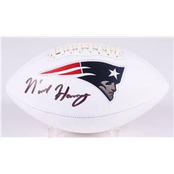 N'Keal Harry Signed New England Patriots Logo Football (Beckett COA)