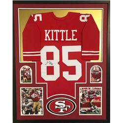 George Kittle Signed San Fransisco 49ers 34x42 Custom Framed Jersey (JSA COA)