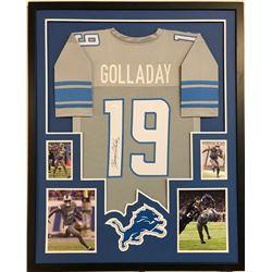 Kenny Golladay Signed Detroit Lions 49ers 34x42 Custom Framed Jersey (JSA COA)