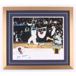 "Hank Aaron Signed Milwaukee Braves  LE ""Hammerin' Hank"" 19.5x22 Custom Framed Photo Display (PSA COA"