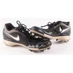 """Lars Anderson Game-Used Nike Baseball Cleats Inscribed """"Game-Used"""" (YSMS COA)"""