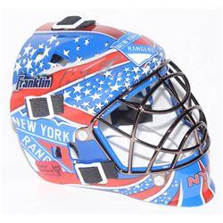 Cam Talbot  Antti Raanta Signed New York Rangers Mini Goalie Mask (Talbot COA  Raanta COA)