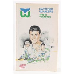 Hartford Whalers 1990-91 Yearbook Team-Signed by (41) with Brad Shaw, James Burke, Terry Yake, Mark