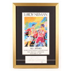"LeRoy Neiman Signed ""Muhammad Ali vs. George Foreman"" World Heavyweight Championship 17x24 Custom Fr"