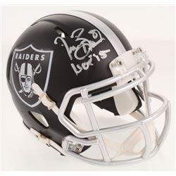 "Tim Brown Signed Oakland Raiders Blaze Speed Mini-Helmet Inscribed ""HOF '15"" (Radtke COA)"
