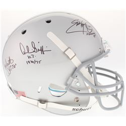 Eddie George, Troy Smith  Archie Griffin Signed Ohio State Buckeyes Full-Size Helmet With (3) Heisma