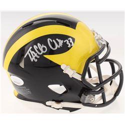 Taco Charlton Signed Michigan Wolverines Speed Mini-Helmet (JSA COA)