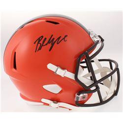 Baker Mayfield Signed Cleveland Browns Full-Size Custom Matte Orange Speed Helmet (Beckett COA)