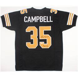 "Earl Campbell Signed New Orleans Saints Jersey Inscribed ""HOF 91"" (JSA COA)"