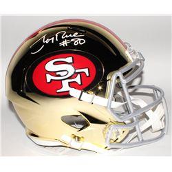 Jerry Rice Signed San Francisco 49ers Full-Size Chrome Speed Helmet (Beckett COA)