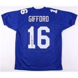 "Frank Gifford Signed New York Giants Jersey Inscribed ""HOF 77"" (JSA COA)"