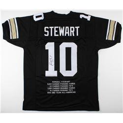 Kordell Stewart Signed Colorado Buffaloes Career Highlight Stat Jersey (JSA COA)