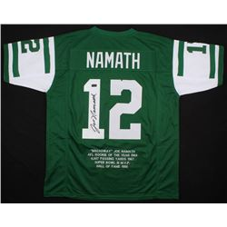 Joe Namath Signed New York Jets Career Highlight Stat Jersey (Radtke COA)