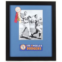Don Drysdale  Sandy Koufax Los Angeles Dodgers 16x19 Custom Framed Photo with Pin  Bumper Sticker