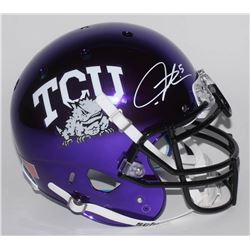 LaDainian Tomlinson Signed TCU Horned Frogs Full-Size Authentic On-Field Chrome Helmet (Radtke COA)