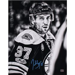 Patrice Bergeron Signed Boston Bruins 16x20 Photo (Bergeron COA)