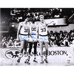 Larry Bird, Kevin McHale  Robert Parish Signed Boston Celtics  The Big 3  16x20 Photo (JSA COA  Bird