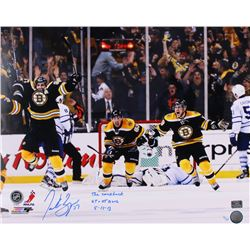 "Patrice Bergeron Signed Boston Bruins 16x20 Limited Edition Photo Inscribed ""The Comeback""  ""GT + GW"