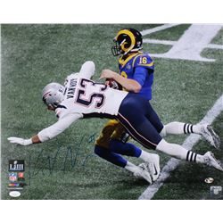 Kyle Van Noy Signed New England Patriots Super Bowl Llll 16x20 Photo (JSA COA  Sure Shot Hologram)