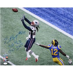 "Stephon Gilmore Signed New England Patriots Super Bowl Llll 16x20 Photo Inscribed ""SB 53 GW INT"" (JS"