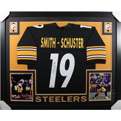 JuJu Smith-Schuster Signed Pittsburgh Steelers 35x43 Custom Framed Jersey (Beckett COA)