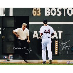 Bobby Orr  Jason Bay Signed Boston Red Sox 16x20 Photo (Great North Road COA  MLB Hologram)
