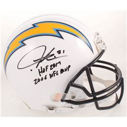 "LaDainian Tomlinson Signed Los Angeles Chargers Full-Size Authentic On-Field Helmet Inscribed ""HOF 1"
