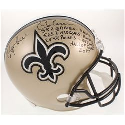 Morten Andersen Signed LE New Orleans Saints Full-Size Helmet With Multiple Inscriptions (Radtke COA