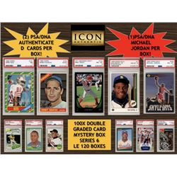 ICON AUTHENTIC 100X DOUBLE GRADED CARD MYSTERY BOX SERIES 6 (Guaranteed Michael Jordan PSA/DNA Card)