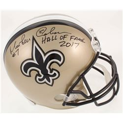 "Morten Andersen Signed New Orleans Full-Size Helmet Inscribed ""Hall of Fame 2017"" (Radtke COA)"