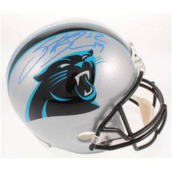 Steve Smith Sr. Signed Carolina Panthers Full-Size Helmet (Radtke COA)
