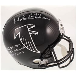 Morten Andersen Signed Atlanta Falcons Full-Size Helmet With Multiple Inscriptions (Radtke COA)