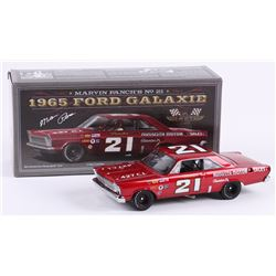 Marvin Panch Signed NASCAR #21 1965 Ford Galaxie 1:24 Premium Diecast Car (PA COA)