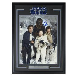 "Peter Mayhew Signed ""Star Wars"" 22x30 Custom Framed Photo Display (Steiner COA)"