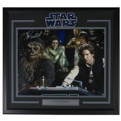 "Peter Mayhew Signed ""Star Wars"" 22x26 Framed Photo Display (Steiner COA)"