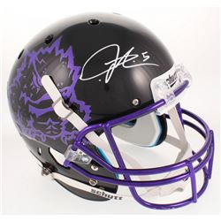 LaDainian Tomlinson Signed TCU Horned Frogs Black Full-Size Helmet (Radtke COA)